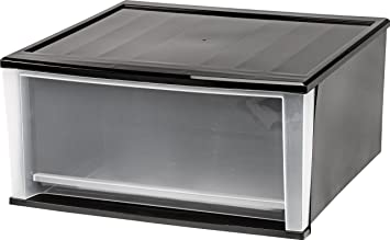 Iris  Quart Stacking Drawer Black