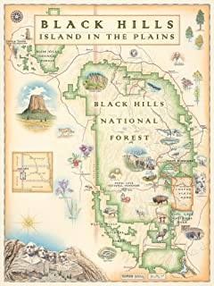 Xplorer Maps Black Hills National Forest - Map Art, No Frame - Print Only