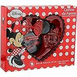 Corine de Farme Coffret Disney Minnie Eau de Toilette + Trousse + Broche + 2 Barrettes + 2 Elastiques 50 ml