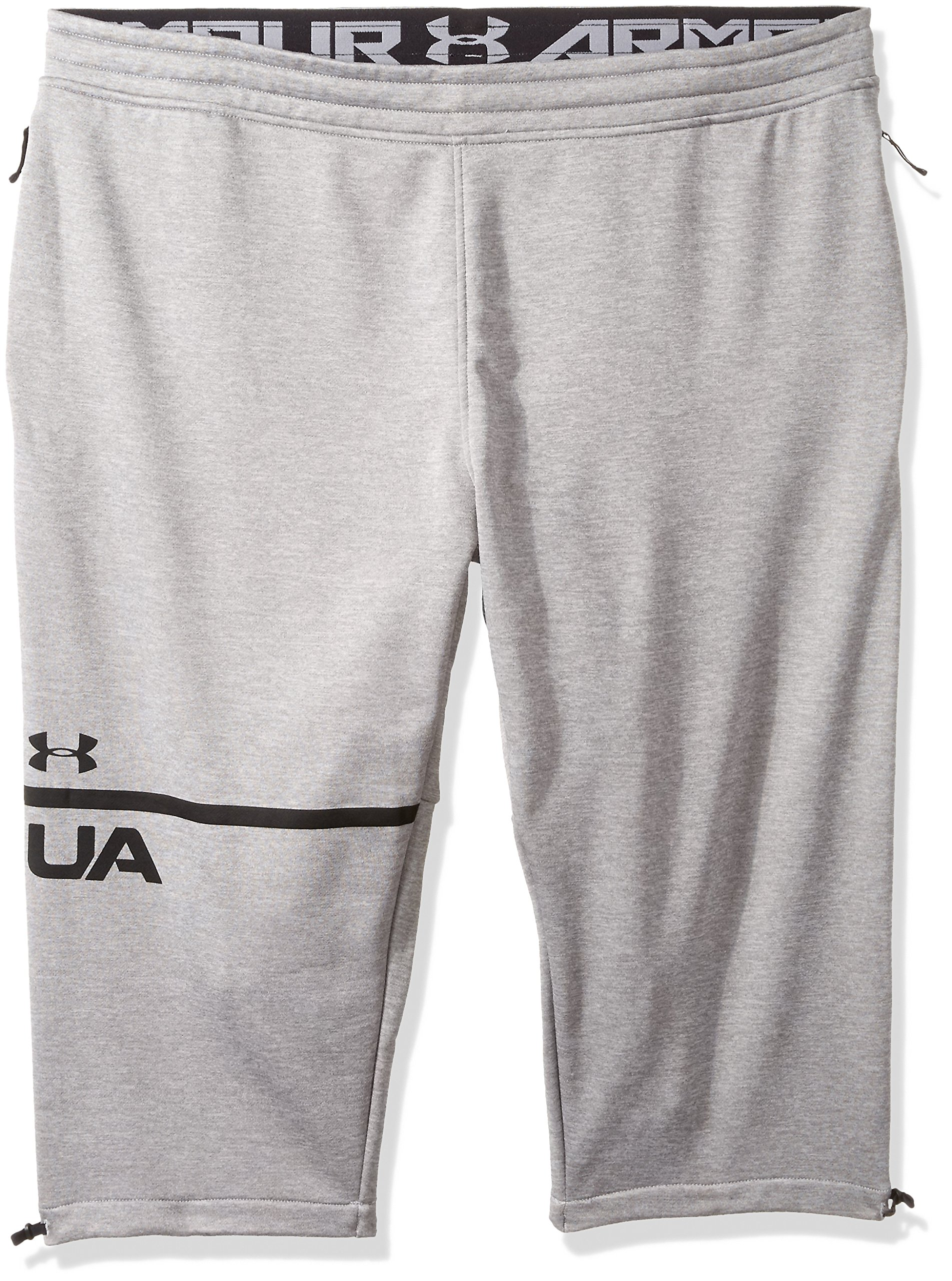 Under Armour Men's MK-1 Terry 3/4 Pants, Steel (035)/Black, Small