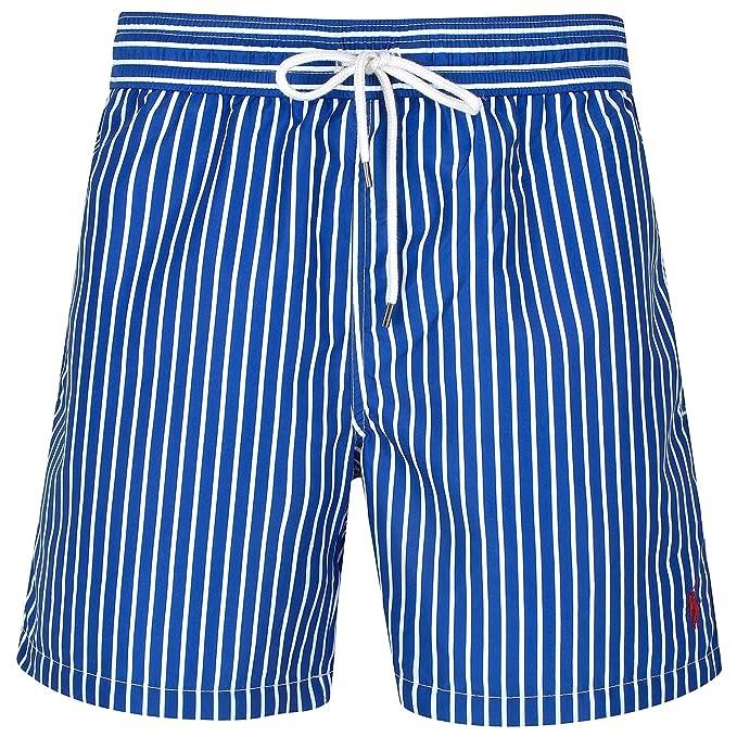 Ralph Lauren - Bañador - para Hombre Azul, Blanco XX-Large: Amazon ...