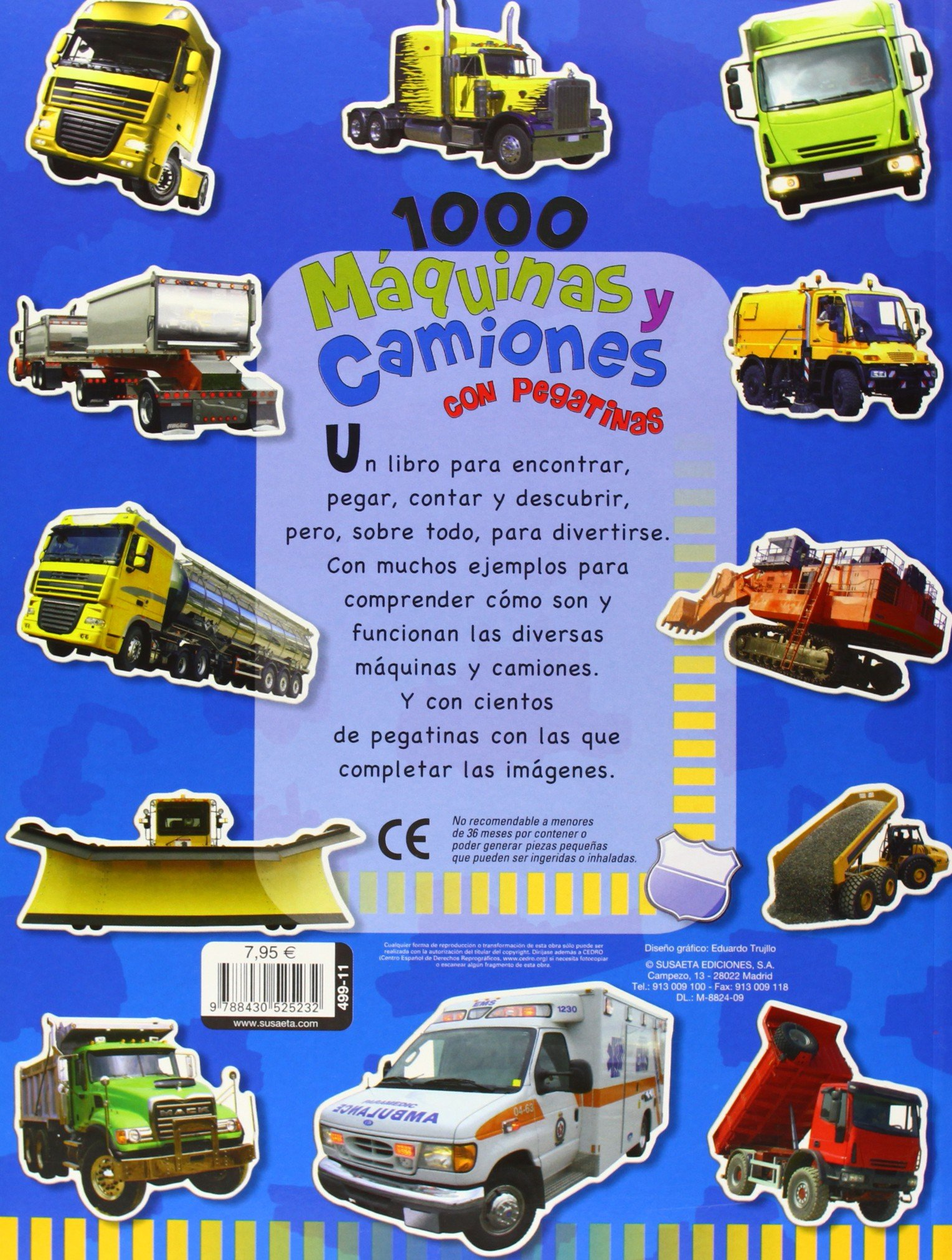 1000 máquinas y camiones: Con pegatinas (Spanish Edition): Inc. Susaeta Publishing: 9788430525232: Amazon.com: Books
