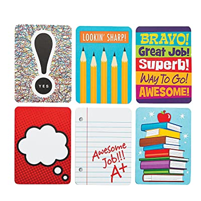 Fun Express Notes from Your Teacher Cards - 48 Pieces - Educational and Learning Activities for Kids: Toys & Games