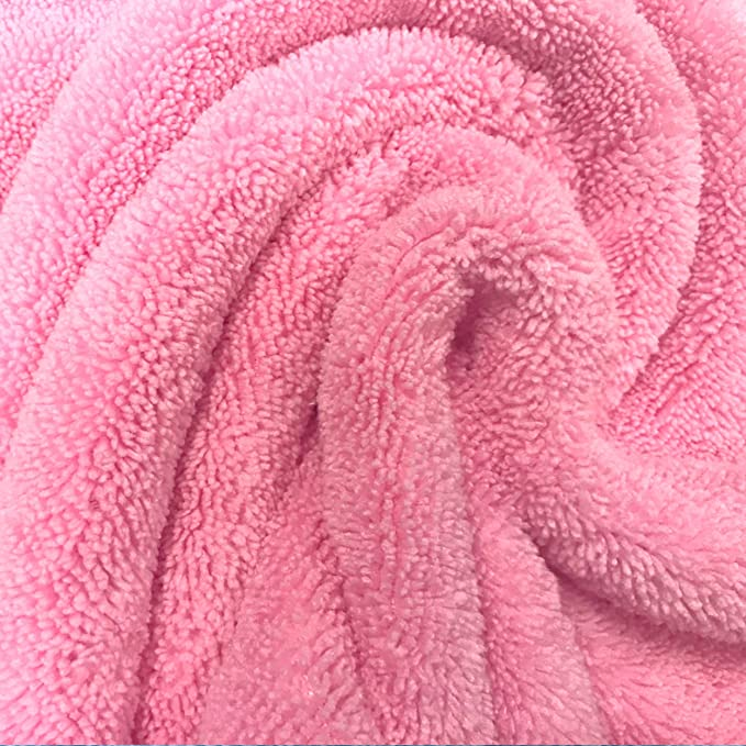 91,4 x 91,4/cm con Capucha Pack de 2 Blanco Polyte Premium Rosa Toalla de ba/ño de Microfibra hipoalerg/énica para beb/és