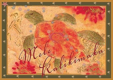 pacifica island art honu the sea turtle by joanne bolton set of 12 hawaiian - Hawaiian Christmas Cards