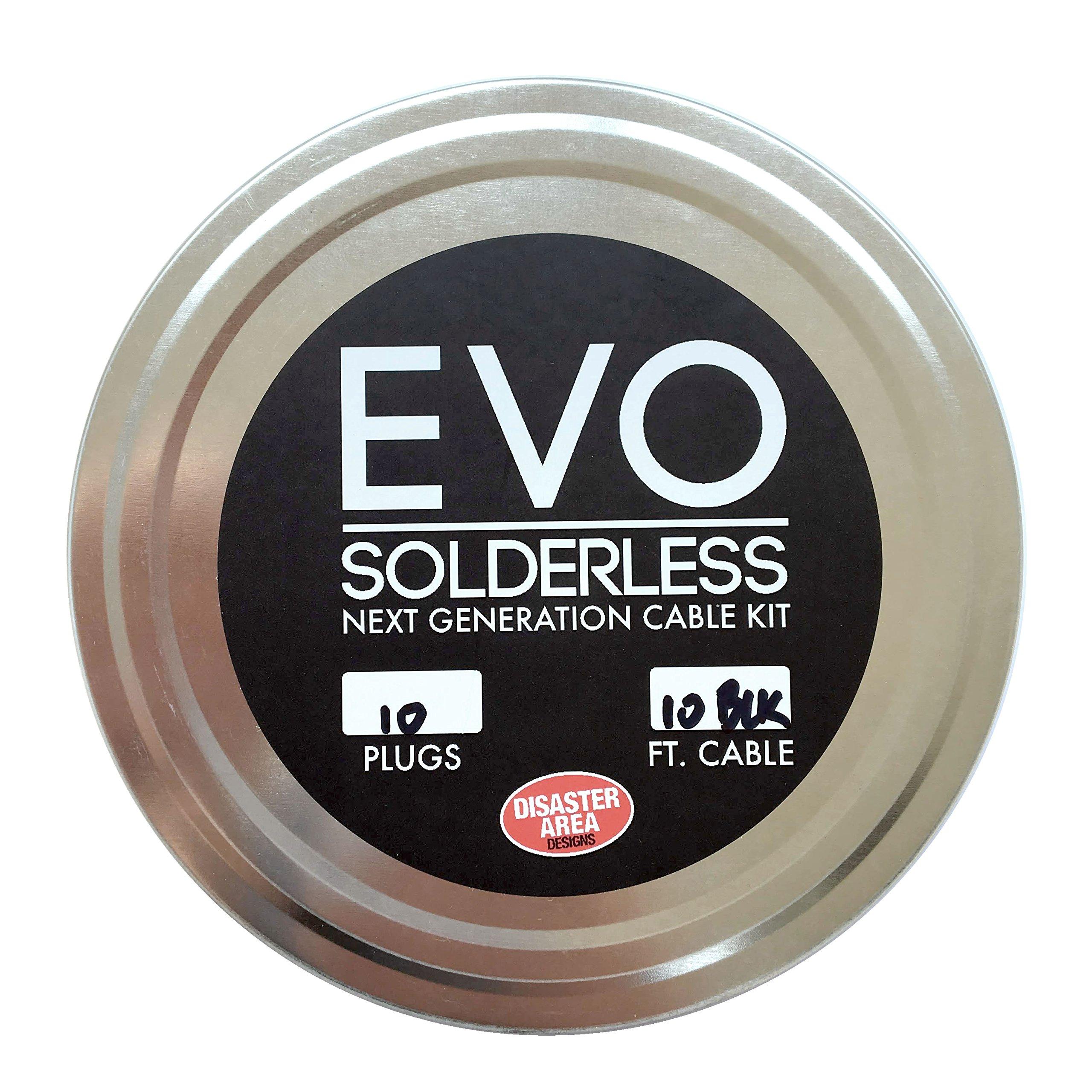 Disaster Area Designs EVO Solderless Cable Kit - Black, 10ft, 10 Plugs