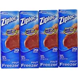 Ziploc Freezer Pint Bags, 80ct.