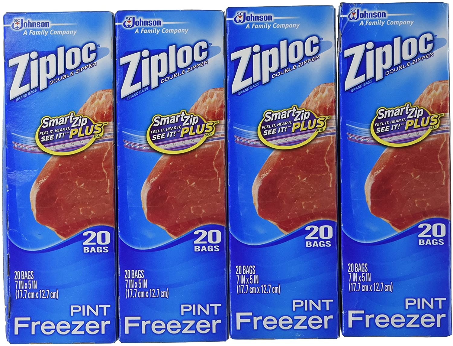Ziploc Freezer Bags - Pint, 80 Count
