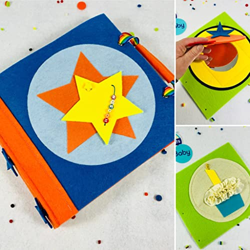 First Birthday Quiet Book For Boys Unique Gift Idea Baby