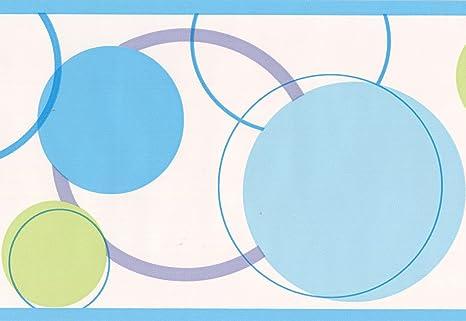 blue green circles abstract white wallpaper border modern designBorder Modern #14