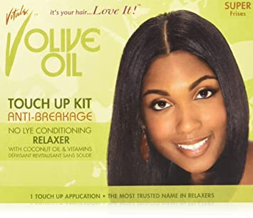 amazon com vitale olive oil relaxer touch up kit super beauty