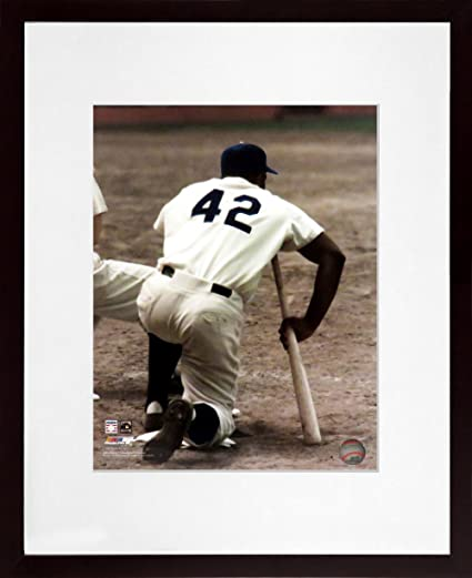 Jackie Robinson Baseball Brooklyn Dodgers Framed Photo Picture Photograph a