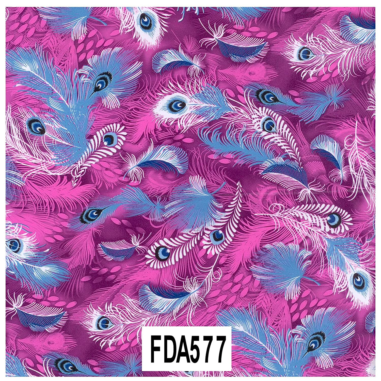 Decopatch Paper Number 577 Peacock Feathers Purple And Blue