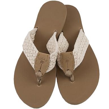 9aa980b61836 Amazon.com  Eliza B Natural Macrame Sandal with Almond Sole  Clothing