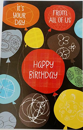 Surprising Amazon Com Its Your Day From All Of Us Happy Birthday Personalised Birthday Cards Bromeletsinfo