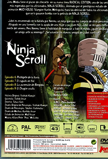 Ninja Scroll 2 [DVD]: Amazon.es: Tatsuo Sato: Cine y Series TV