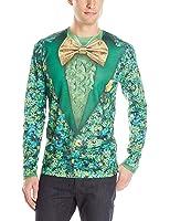 Faux Real Shamrock Suit Long Sleeve T-shirt