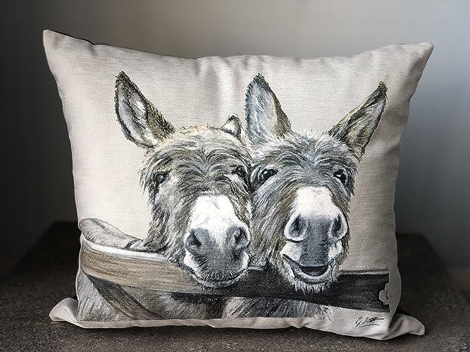 Donkey Cushion by Irish Artist Grace Scott
