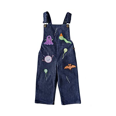 Sisimama Boy Overalls, Monsters Jean Blue 2T