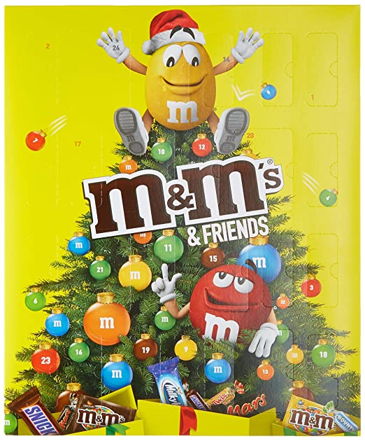 M&M Friends Schokoladen-Adventskalender 24 Portionsbeutel, 1er Pack (1 x 361 g)