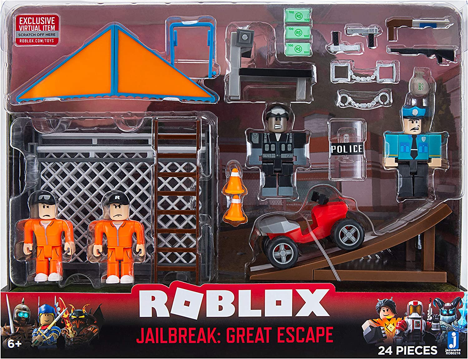 Amazon Com Roblox Action Collection Jailbreak Great Escape
