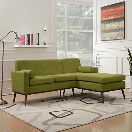 fabric sectional sofas. Sophia Mid Century Modern 2 Piece Green Fabric Sectional Sofa And Lounge Set Sofas