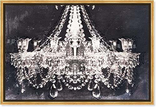 The Oliver Gal Artist Co. Fashion and Glam Framed Wall Art Canvas Prints 'Dramatic Entrance Night' Chandeliers Home D cor