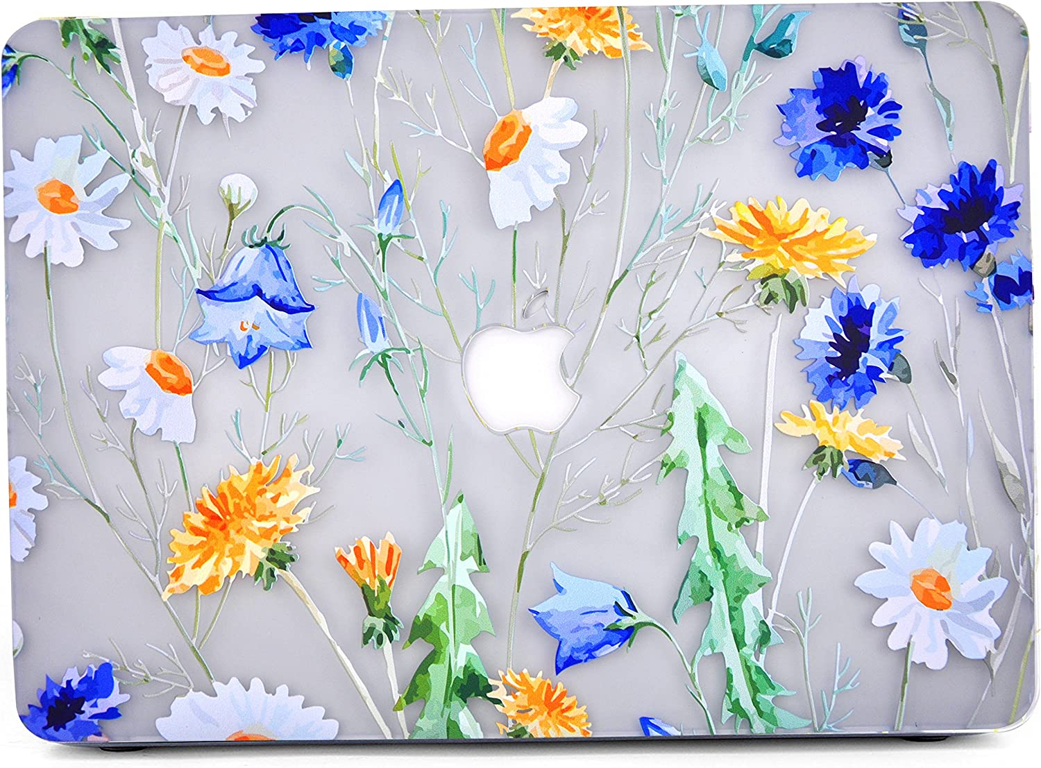 """Case for MacBook Air 11, L2W Floral Design Pattern Glossy Matte Clear See-Through Case Cover Compatible with MacBook Air 11"""" (A1370 and A1465) - See Through Floral Pattern W"""