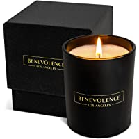 Premium Bergamot & Jasmine Candle   Highly Scented Candles for Home   6 oz 35 Hour Burn, Fall Candles, All Natural Soy…