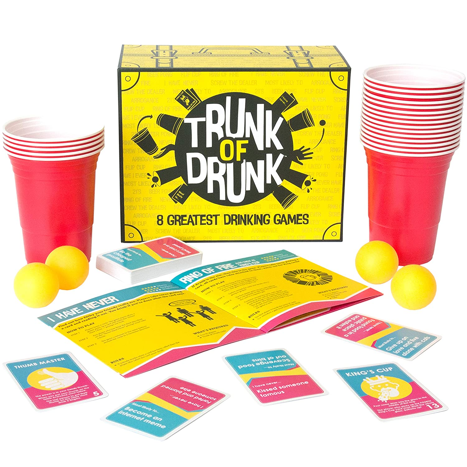 Trunk of Drunk - 8 Greatest Drinking Games (Beer Pong, Ring of Fire, Never Have I Ever and more) Gutter Games