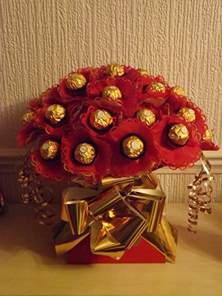 Beautiful Chocolate Bouquet Ferrero Rocher Lindor Lindt Cadburys