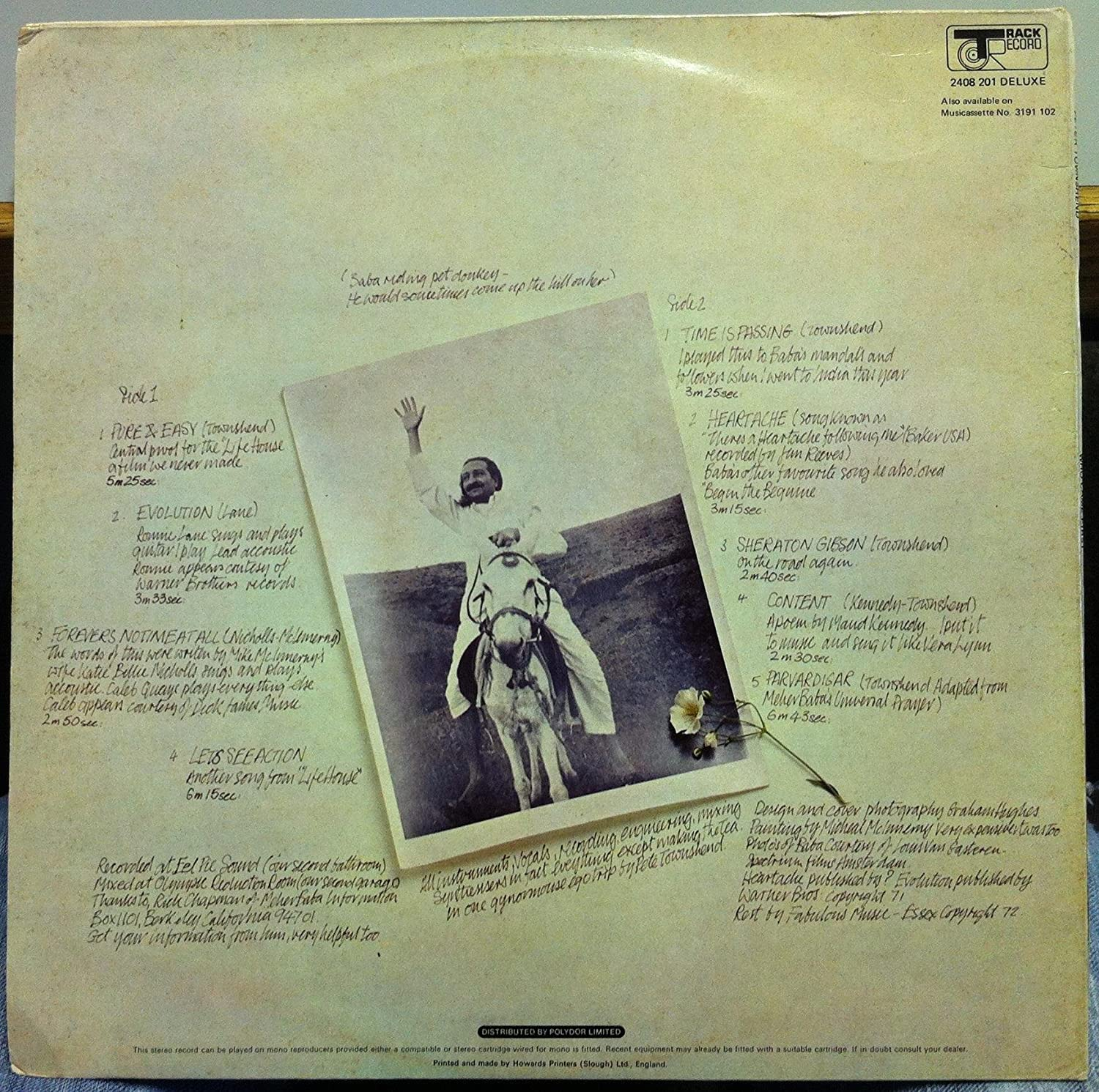 - PETE TOWNSHEND WHO CAME FIRST vinyl record - Amazon.com Music