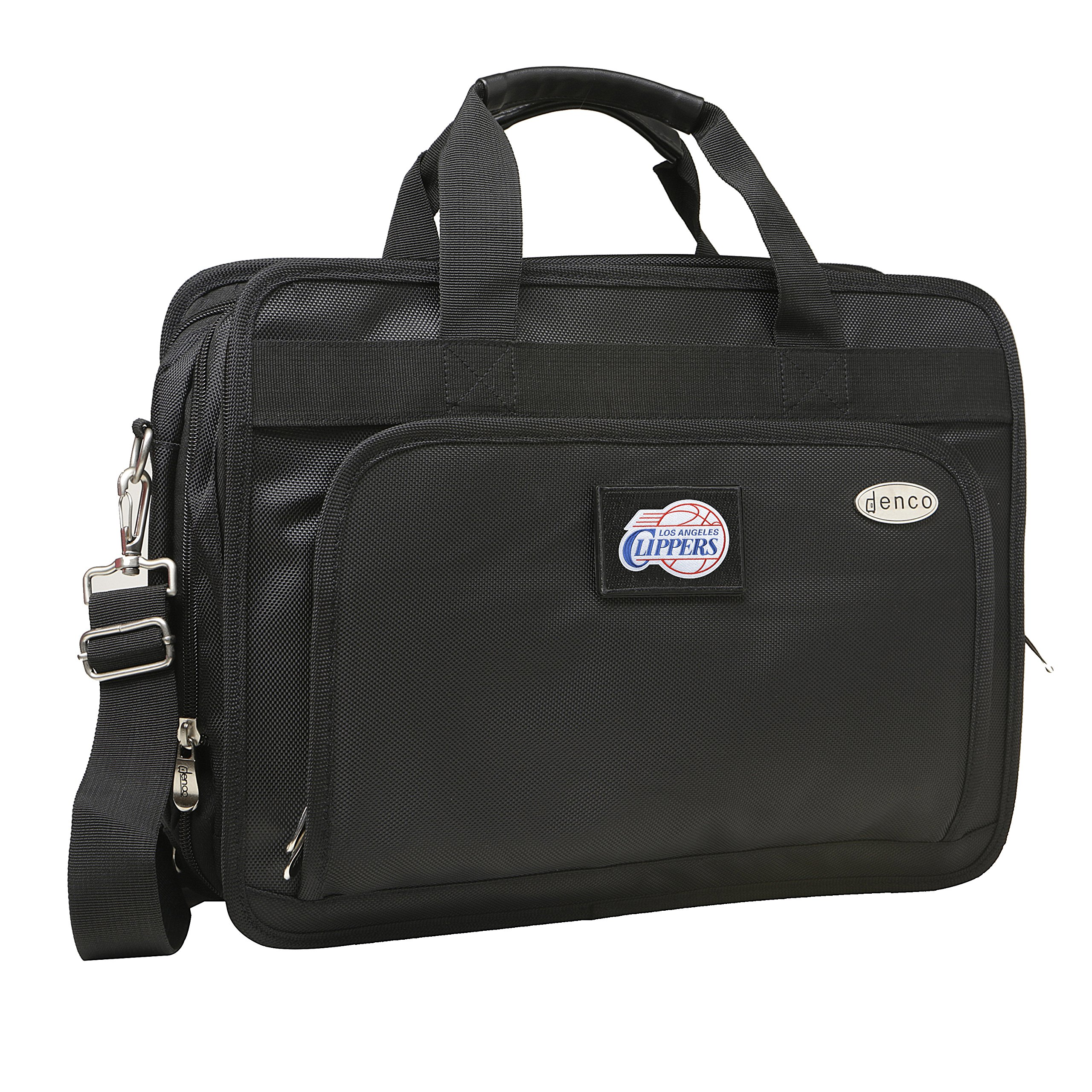 NBA Los Angeles Clippers Expandable Laptop Briefcase, 13-Inch, Black