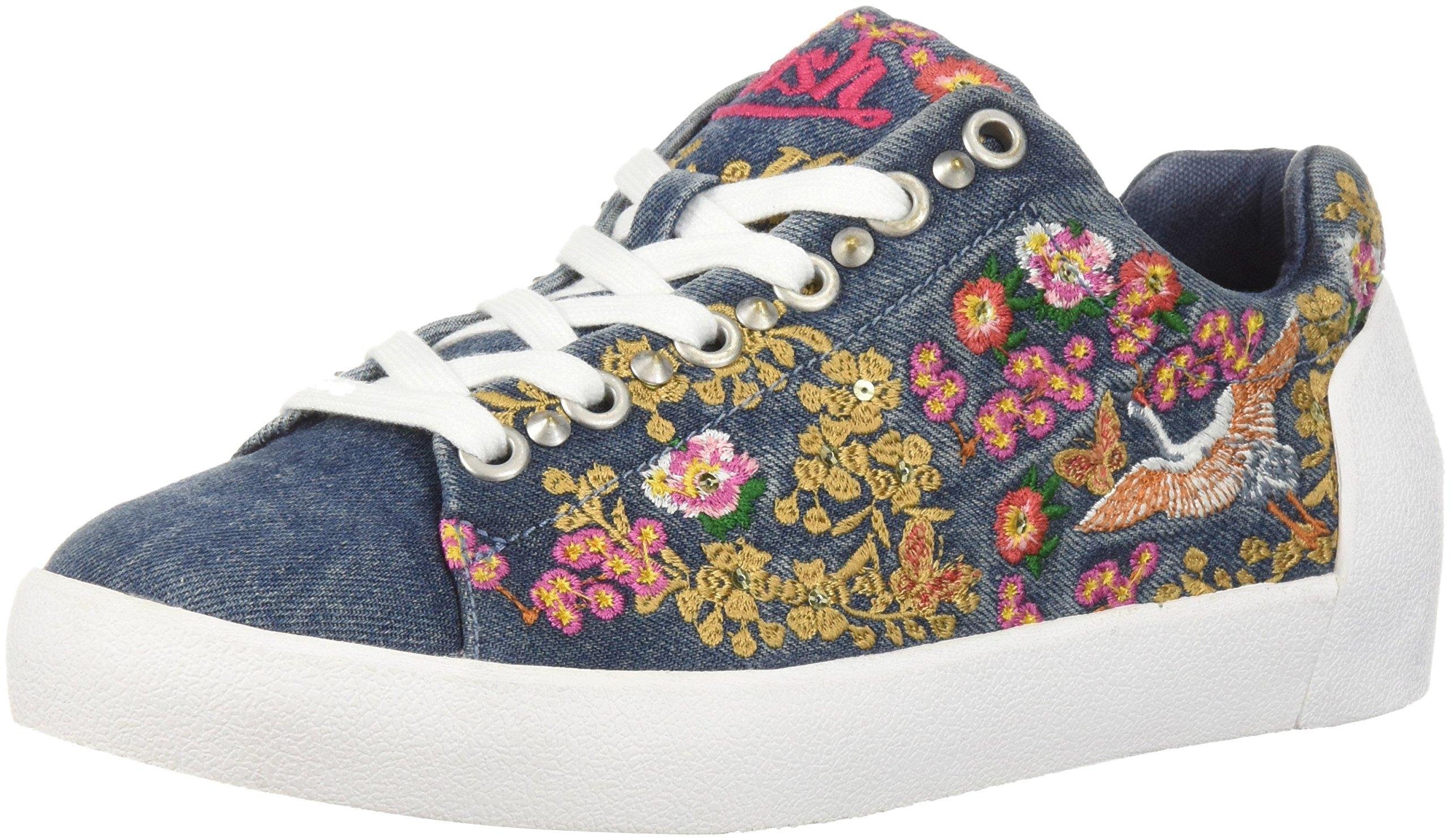 Ash Women's AS-Nippon Sneaker, Denim Blue, 41 M EU (11 US)