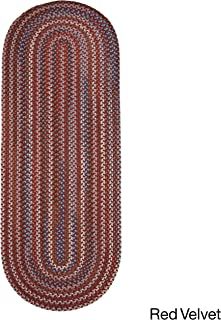 product image for Rhody Rug Augusta Braided Wool Runner Rug (2' x 8') Red