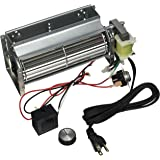 """Tjernlund FB10DLX 75 CFM Fireplace Blower Motor 10"""" with Speed Control & Adjustable Thermal Switch"""