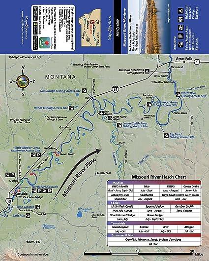 Amazon Com Missouri River Montana 15x11 Paper Fishing Map