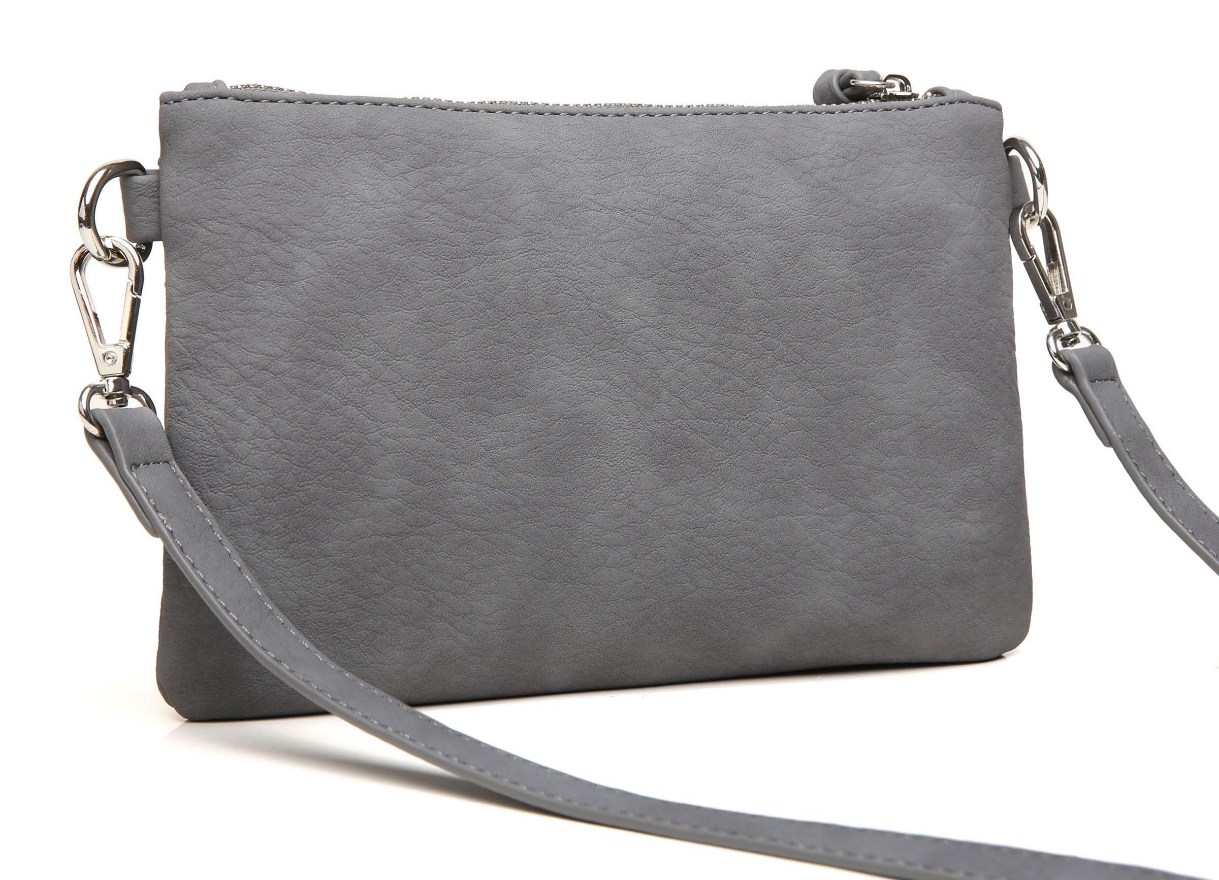 Aitbags Multi-Zipper Pocket Crossbody Handbag Lightweight Purse Functional Clutch with Wristlet by Aitbags (Image #3)