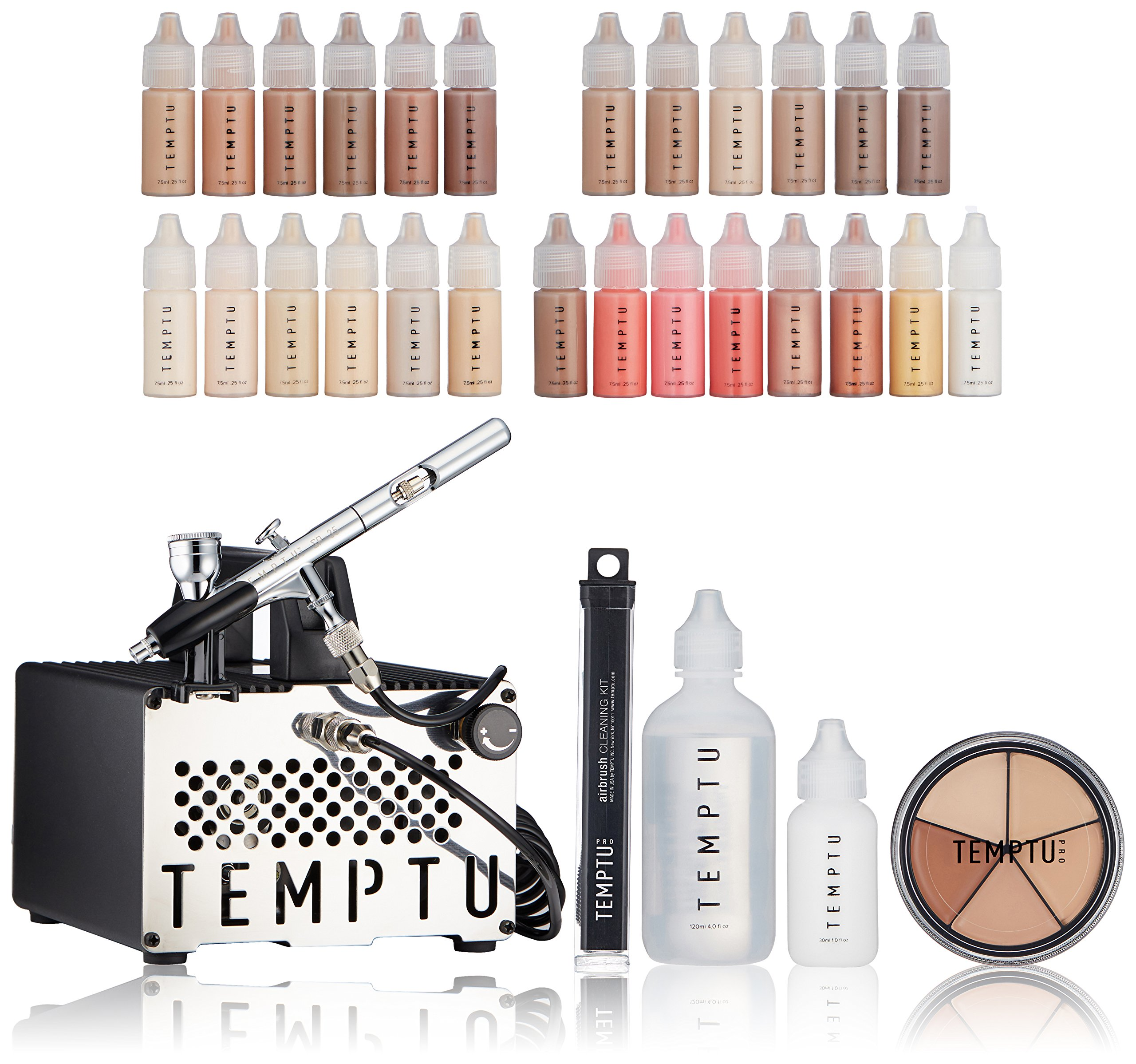 Temptu S-One Deluxe Aibrush Kit: Airbrush Makeup Set for Professionals by Temptu