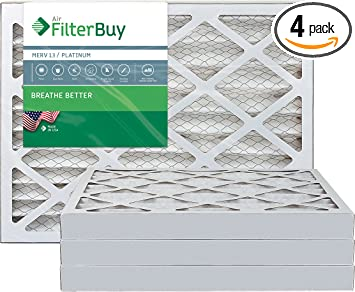 Nordic Pure 18x25x1 MERV 13 Pleated AC Furnace Air Filters 4 Pack