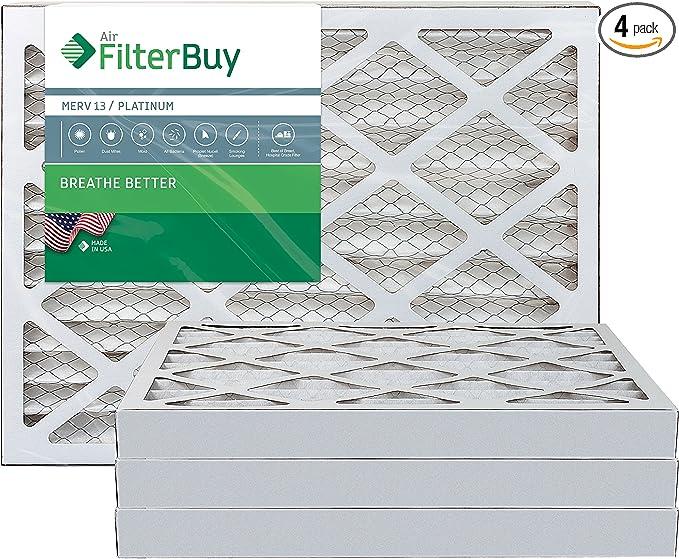 Platinum Pack of 6 Filters FilterBuy 24x24x2 MERV 13 Pleated AC Furnace Air Filter, 24x24x2