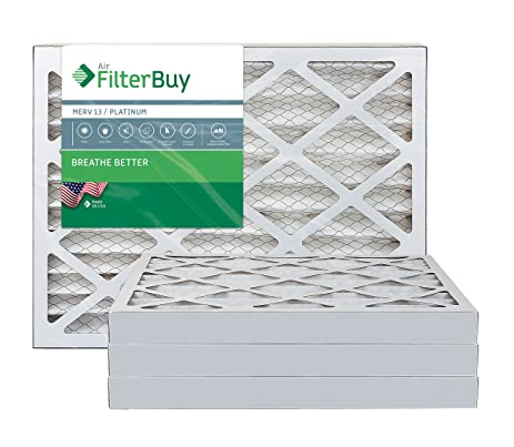 afb platinum merv 13 24x28x2 pleated ac furnace air filter. pack of ...