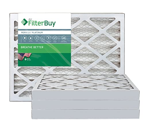 afb platinum merv 13 18x24x1 pleated ac furnace air filter. pack of ...
