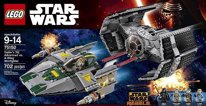 Lego 75150 Vader/'s Tie Advanced vs A-Wing Starfighter