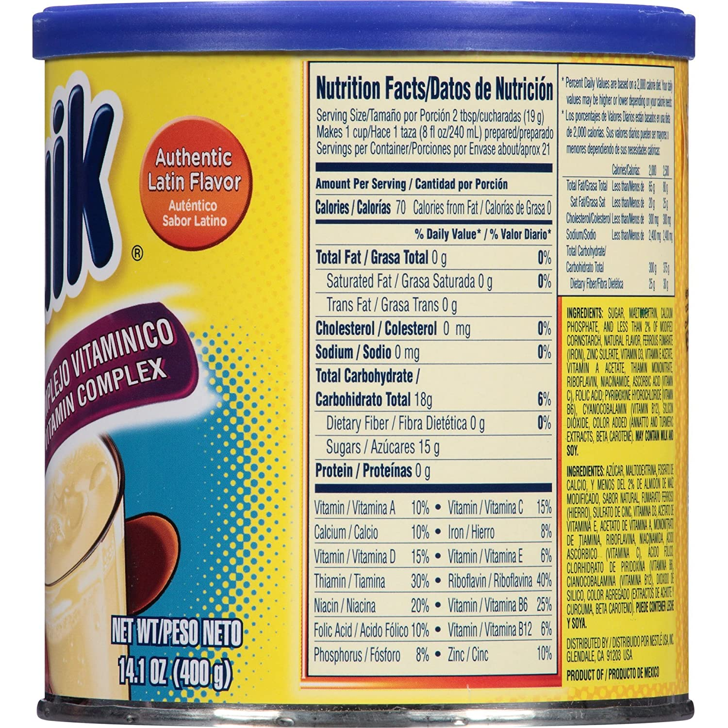 Amazon.com : Nesquik Vanilla Flavor 14.1 oz. Canister (Pack of 4) : Grocery & Gourmet Food
