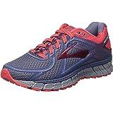 Brooks Women's Adrenaline ASR 13 Running Shoes, Blue/Red