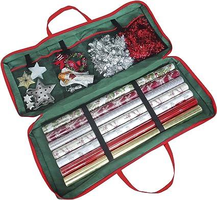 Sac De Rangement En Tissu Pour Emballage Cadeau De Noël 82 X 34 X 13 Cm Pour Papier étiquettes Et Nœuds