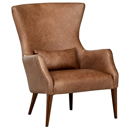 Delicieux Rivet Parks Mid Century Modern Wingback Leather Chair, 30.5u0026quot; ...