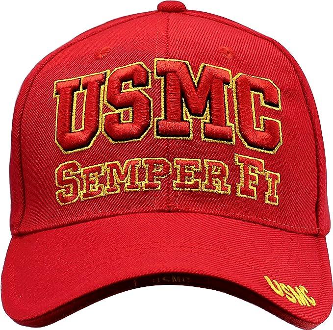 47af179049c7f Custom Tshirts and Hats Marine Corps Baseball Cap Semper Fi USMC ...