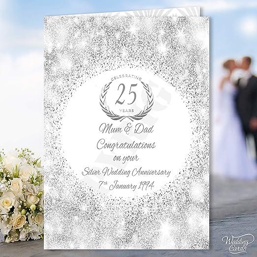 Tarjeta de felicitación de 50 aniversario de boda dorada para mamá ...